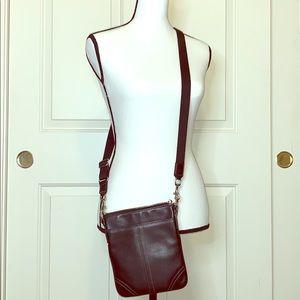 Coach small cross body leather purse